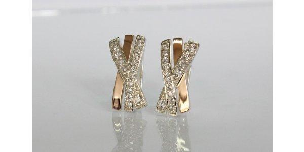 Серебряные украшения с золотыми вставками